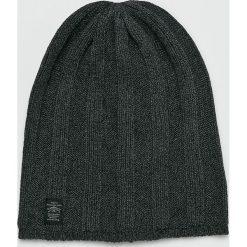 Pepe Jeans - Czapka. Czarne czapki zimowe męskie Pepe Jeans, z bawełny. W wyprzedaży za 84,90 zł.