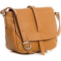 Torebki klasyczne damskie: Skórzana torebka w kolorze jasnobrązowym – 24 x 20 x 10 cm