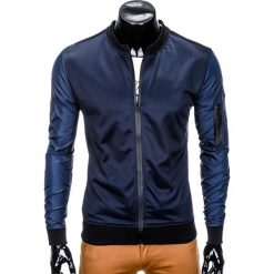 Bluzy męskie: BLUZA MĘSKA ROZPINANA BEZ KAPTURA B749 – GRANATOWA