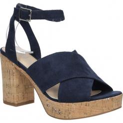 Sandały zamszowe na słupku S.Oliver 5-28309-28. Czarne sandały damskie na słupku S.Oliver, z zamszu. Za 179,99 zł.