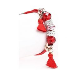 Bransoletki damskie na nogę: Czerwona Bransoletka Forever My Love