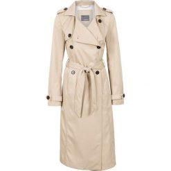Płaszcze damskie pastelowe: Płaszcz trencz bonprix beżowy