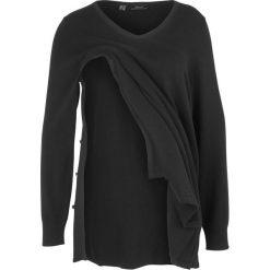 Swetry klasyczne damskie: Sweter ciążowy /do karmienia piersią bonprix czarny