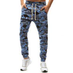 Joggery męskie: Spodnie męskie joggery camo niebieskie (ux1148)