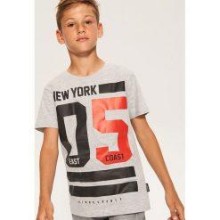 T-shirty chłopięce: T-shirt z napisem new york – Jasny szar