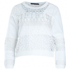 Biała Bluza Move Around. Białe bluzy damskie Born2be, l. Za 29,99 zł.