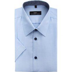 Koszula FABIO 15-03-13-K. Brązowe koszule męskie na spinki marki QUECHUA, m, z elastanu, z krótkim rękawem. Za 129,00 zł.