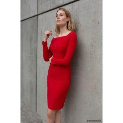 Sukienka Ysabel. Czerwone sukienki hiszpanki Pakamera, z wiskozy, midi, ołówkowe. Za 490,00 zł.