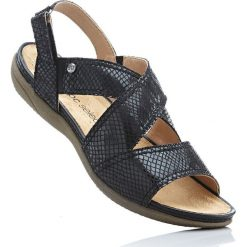 Wygodne sandały bonprix czarny. Czarne sandały damskie bonprix. Za 99,99 zł.