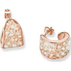 Biżuteria i zegarki: Powlekane kolczyki-półkreole z kryształkami Swarovski