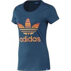 T-shirt Adidas Trefoil F82108. Niebieskie t-shirty damskie marki Adidas, s, z bawełny. W wyprzedaży za 69,99 zł.