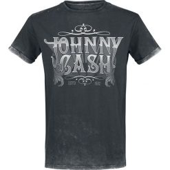 Johnny Cash EMP Signature Collection T-Shirt ciemnoszary. Szare t-shirty męskie z nadrukiem Johnny Cash, m. Za 79,90 zł.