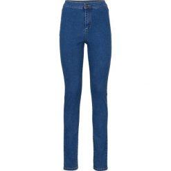 MUST HAVE: dżinsy z wysoką talią Super Skinny bonprix niebieski bleached. Niebieskie jeansy damskie skinny bonprix, z jeansu. Za 44,99 zł.