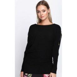 Swetry klasyczne damskie: Czarny Sweter Remind