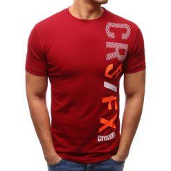 T-shirty męskie z nadrukiem: T-shirt męski z nadrukiem czerwony (rx2604)