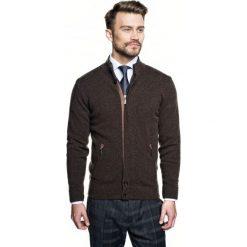 Sweter cheney stójka brąz. Czarne swetry klasyczne męskie Recman, m, ze stójką. Za 249,00 zł.
