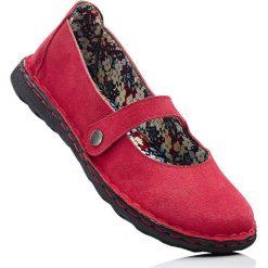Baleriny skórzane bonprix czerwony. Czerwone baleriny damskie marki Kazar, ze skóry, na wysokim obcasie. Za 59,99 zł.