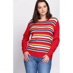 Czerwony Sweter Handbook. Czerwone swetry klasyczne damskie Born2be, na jesień, xl. Za 24,99 zł.