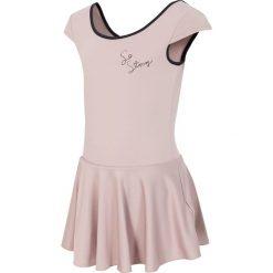 Sukienka treningowa dla małych dziewczynek JSUDD300 - beżowy. Brązowe bielizna dziewczęca marki 4F JUNIOR, z dzianiny. Za 39,99 zł.