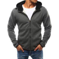 Bluzy męskie: Bluza męska z kapturem rozpinana antracytowa (bx2395)