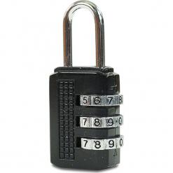 """Kłódka """"Rouen"""" w kolorze czarnym do walizki. Czarne walizki Hero & BlueStar. W wyprzedaży za 21,95 zł."""