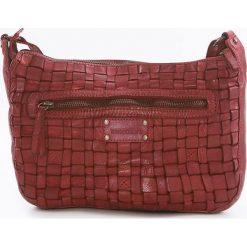 Torebki klasyczne damskie: Skórzana torebka w kolorze czerwonym – 27 x 21 x 8 cm