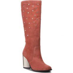Kozaki EVA MINGE - Alcor 4AE 18SF1372614EF  812. Czerwone buty zimowe damskie Eva Minge, ze skóry, na obcasie. W wyprzedaży za 589,00 zł.