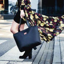 Torba Mili City Bag MCB2 - czarna. Czarne torebki klasyczne damskie Pakamera, duże. Za 199,00 zł.