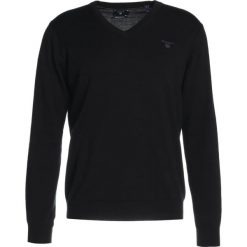 GANT WEIGHT VNECK Sweter marine. Niebieskie kardigany męskie marki GANT, m, z bawełny. W wyprzedaży za 356,15 zł.