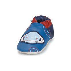 Kapcie niemowlęce Dziecko  Robeez  PLANET. Niebieskie kapcie chłopięce Robeez. Za 139,00 zł.