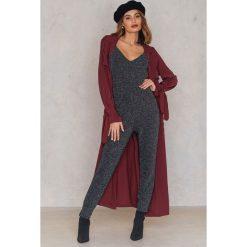 Spodnie z wysokim stanem: Rut&Circle Brokatowe spodnie Janila – Black,Multicolor,Silver