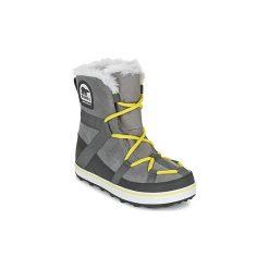 Śniegowce Sorel  GLACY EXPLORER SHORTIE. Szare buty zimowe damskie Sorel. Za 495,20 zł.