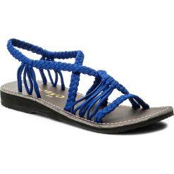 Rzymianki damskie: Sandały LA MARINE – Idya Flat Bleu Electrique