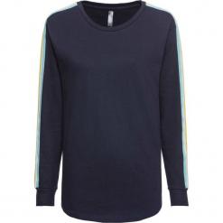 Bluza dresowa bonprix ciemnoniebieski. Niebieskie bluzy damskie bonprix, w paski, z dresówki. Za 74,99 zł.