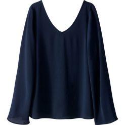 Bluzki asymetryczne: Bluzka rozkloszowana, sznurowany tył