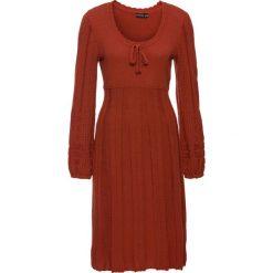 Sukienki hiszpanki: Sukienka dzianinowa bonprix karminowoczerwony