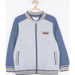 Bluza. Niebieskie bluzy chłopięce rozpinane MOTORCYCLE CLUB, z aplikacjami, z bawełny, z długim rękawem, długie. Za 85,90 zł.