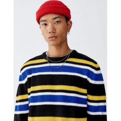 Sweter w kolorowe paski. Żółte swetry klasyczne męskie marki ATORKA, xs, z elastanu. Za 109,00 zł.