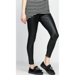 Spodnie damskie: Czarne Legginsy Diagonal Cut