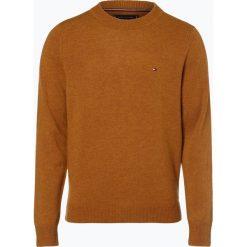 Tommy Hilfiger - Sweter męski – Heather, brązowy. Czarne swetry klasyczne męskie marki TOMMY HILFIGER, l, z dzianiny. Za 449,95 zł.