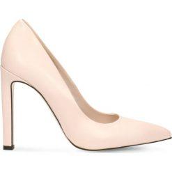 Czółenka INGRID. Czerwone buty ślubne damskie Gino Rossi, ze skóry, na wysokim obcasie, na szpilce. Za 199,90 zł.