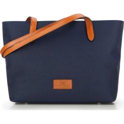 Torebka damska 87-4E-432-7. Niebieskie shopper bag damskie Wittchen, w paski, z nylonu, z tłoczeniem. Za 359,00 zł.
