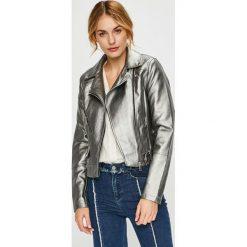 Vero Moda - Kurtka Mae. Niebieskie kurtki damskie ramoneski marki Vero Moda, z bawełny. W wyprzedaży za 149,90 zł.