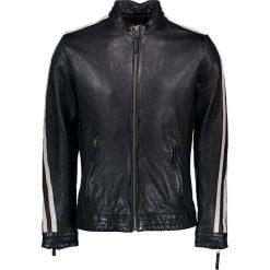 """Kurtki męskie bomber: Skórzana kurtka """"Brands Hatch"""" w kolorze czarnym"""