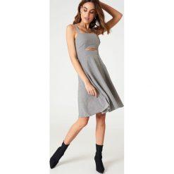 Sukienki hiszpanki: Passion Fusion Sukienka w kratkę – Black,Multicolor