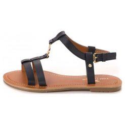 Tom Tailor Sandały Damskie 40 Ciemnoniebieski. Brązowe sandały damskie marki Tom Tailor. W wyprzedaży za 115,00 zł.