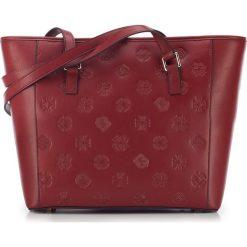 Torebka damska 87-4E-422-3. Czerwone shopper bag damskie Wittchen, z tłoczeniem. Za 399,00 zł.