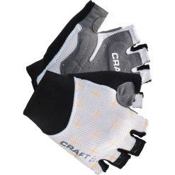 Rękawiczki damskie: Rękawiczki kolarskie w kolorze biało-czarnym