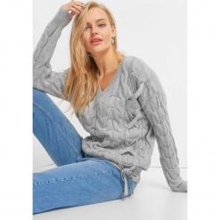 Sweter z warkoczami i wiązaniem. Brązowe swetry klasyczne damskie marki Orsay, s, z dzianiny. Za 119,99 zł.