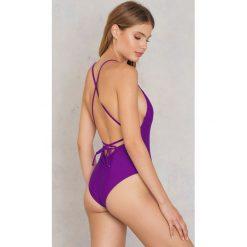 Stroje jednoczęściowe: Hot Anatomy Jednoczęściowy kostium kąpielowy Cross Back – Purple